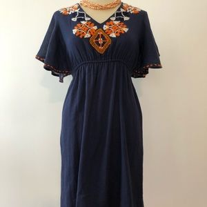 Judith March Embroidered Linen Dress (M)